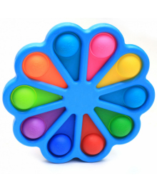 Игрушка детская антистресс Pop It Simple Dimple Цветок голубая (SD001LB)