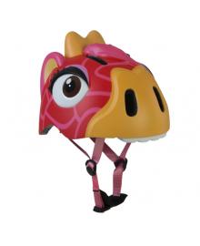 Детский шлем Crazy Safety Жираф краcный 2-7 лет c фонариком S