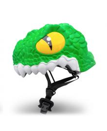 Детский шлем Crazy Safety Крокодил зеленый 2-7 лет c фонариком S