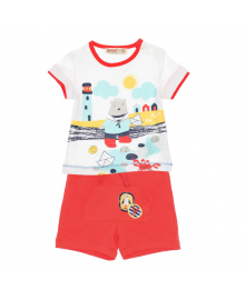 Комплект футболка и шорты Silversun Red White KT118044, 8682113651601