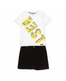 Комплект футболка и шорты Silversun White black KT218027, 8682113652660