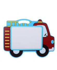 Детский мольберт доска для рисования деревянная двухсторонняя магнитная MD 2085-3 (Машинка)