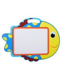 Детский мольберт доска для рисования деревянная двухсторонняя магнитная MD 2085-7 (Рыбка)