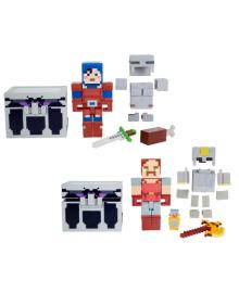 "Набор из 2 фигурок персонажей и сундука серии ""Dungeons"" Minecraft Mattel GTP24"