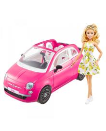 """Набор с куклой Barbie """"Фиат"""" розовый"""