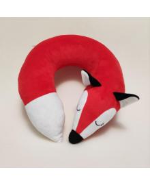 Подушка для путешествий Strekoza лиса Сонная Фокси 34см красный