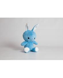 Мягкая игрушка Strekoza заяц Флип-Флоп 21см голубой ФФГ01