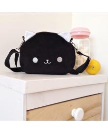 Маленькая сумка на ремне Strekoza Котенок Айси 20х15 черный