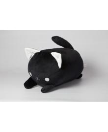 Мягкая игрушка подушка валик Strekoza Котенок Айси 39 см черный
