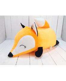 Мягкая игрушка подушка валик Strekoza Фокси 60 см оранжевый большая Ф 04Ол