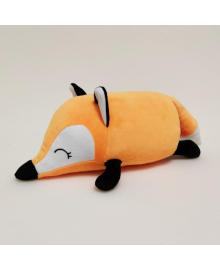 Мягкая игрушка валик Strekoza лисенок Фокси 31 см оранжевый Ф 04 СО
