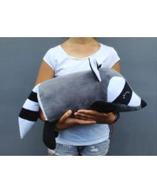 Мягкая игрушка подушка валик Strekoza Енот 45 см серый средний Е 04М