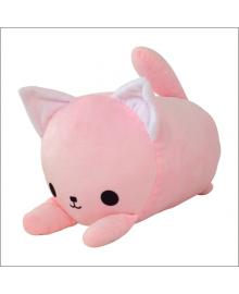 Мягкая игрушка подушка валик Strekoza Котенок Айси 39 см розовый АР 04