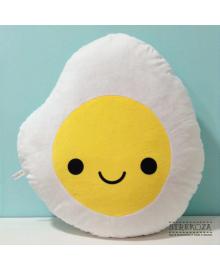 Большая мягкая игрушка подушка Strekoza Яичница 55см белый Я02 Л