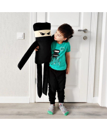 Мягкая игрушка-подушка Strekoza Ниндзя 88см черный
