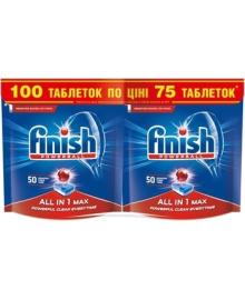Таблетки для посудомоечных машин Finish All in one Max, 50+50 шт