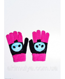 Дитячі рукавички і рукавиці ISSA PLUS 7874 Універсальний чорний/малиновий