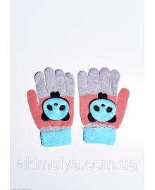 Дитячі рукавички і рукавиці ISSA PLUS 7874 Універсальний чорний/блакитний