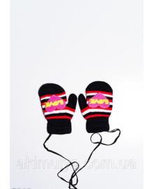 Дитячі рукавички і рукавиці ISSA PLUS 7869 12 місяців чорний