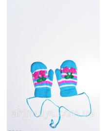Дитячі рукавички і рукавиці ISSA PLUS 7866 12 місяців блакитний