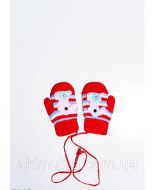 Дитячі рукавички і рукавиці ISSA PLUS 7865 12 місяців червоний