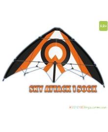 Детский воздушный змей Paul Guenter SKY ATTACK 150 GX (трюковая дельта) (1035)