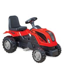 Трактор на педалях MMX MICROMAX (01-001) с прицепом красный