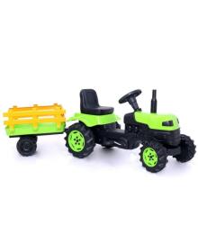 Детский трактор на педалях (2005) с прицепом зеленый
