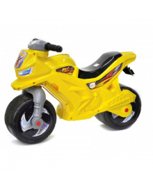 Беговел желтый мотоцикл  501Y музыкальный