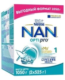 Уценка. Сухая молочная смесь NAN® 1 OPTIPRO® с олигосахаридом 2'FL, для детей с рождения, 1050 г