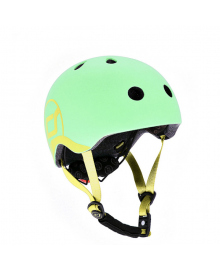 Шлем защитный детский Scoot and Ride киви с фонариком 51-55см S M