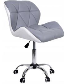 Крісло Bonro B-531 сіре + біле (42300044)