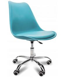 Крісло Bonro B-487 на колесах синє (42300038)