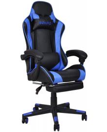 Крісло геймерське Bonro B-2013-1 синє (40800015)