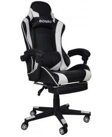 Крісло геймерське Bonro B-2013-1 біле (40800011)