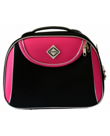 Кейс дорожній Bonro Style середній чорно-рожевий (10101412)