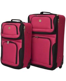 Набір валіз Bonro Best 2 шт вишневий (10080700)
