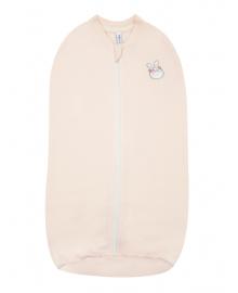 Пеленка-кокон на молнии  SMIL 119838 Розовый персик р.56-62