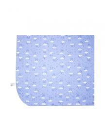 Пеленка для мальчика SMIL 119763 Рисунок на голубом р.80х90