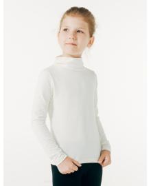 Гольф-драпированная горловина для девочки SMIL 114576 Молочный