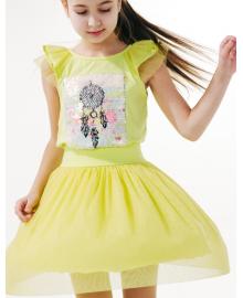 Юбка для девочки SMIL 120219 Желто-салатовый