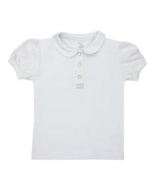 Футболка-поло (короткий рукав) для девочки SMIL 114669 Белый
