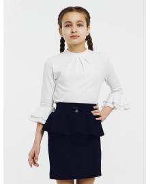 Блуза рукав 3/4 для девочки SMIL 114642 Белый