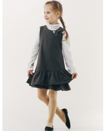 Сарафан для девочки SMIL 120225 Темно-серый меланж , 4824039120975