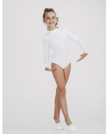 Купальник зі стійкою для танців (довгий рукав) для дівчинки SMIL 123005 Білий
