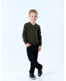Пуловер для мальчика SMIL 116438 Хаки