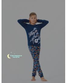 Пижама для мальчика SMIL 104255 Темно-синий