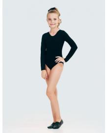 Купальник для танців (довгий рукав) для дівчинки SMIL 123016 Чорний