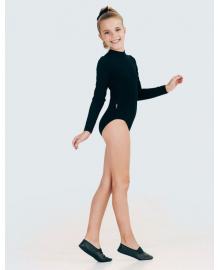 Купальник для танців (довгий рукав) для дівчинки SMIL 123010 Чорний