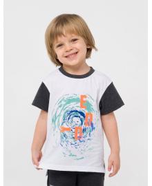 Футболка для мальчика SMIL 110633 Белый